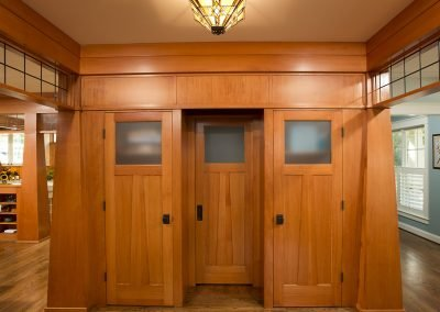Interior doors in a remodeled home
