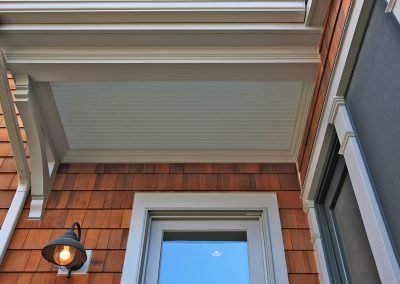 Details of the entrance of an addition