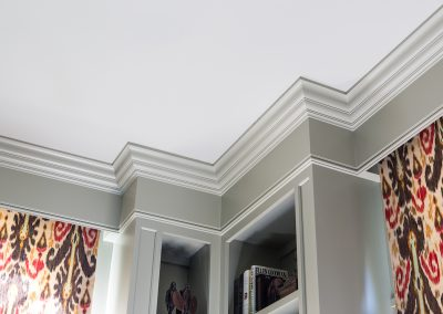 Detail shot of molding in office