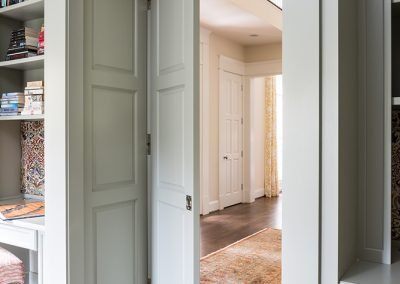 Doors from an office to the foyer