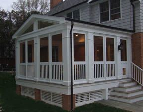 completed project white porch