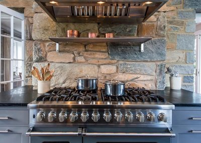 A large oven with many burners on top