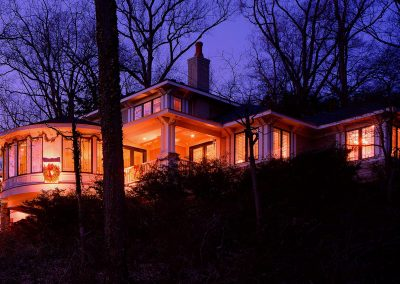 Exterior of home at night