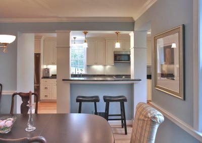 Looking into a kitchen from dining room