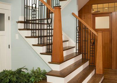 Stairs up to a second story