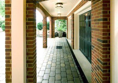 Walkway with bricks