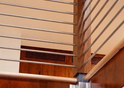 Detail shot of railing