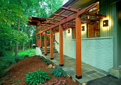 A covered walkway
