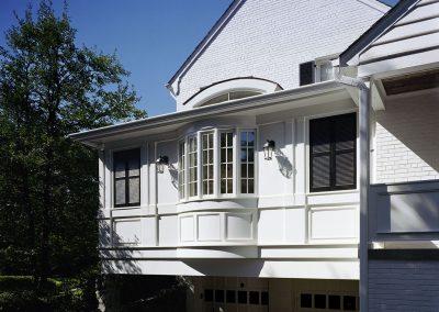 Windows above garage