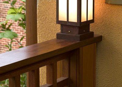 Outdoor light on porch