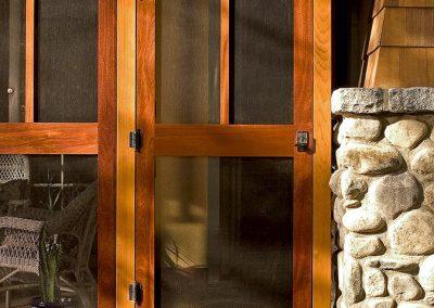 Screen door to porch