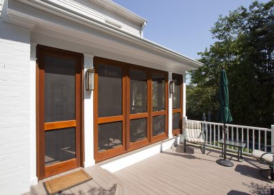 An outside part of a porch addition