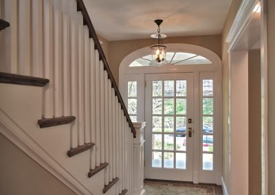 Stairs leading to the front door