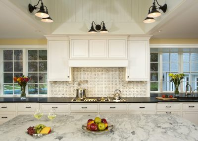 A kitchen with lots of storage space