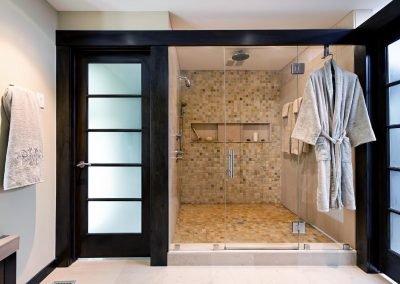 Huge shower with tiles