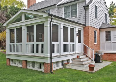 Porch addition with steps up