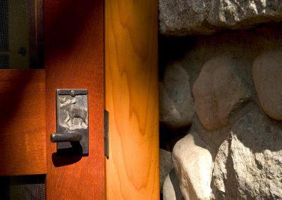 Detail shot of door handle