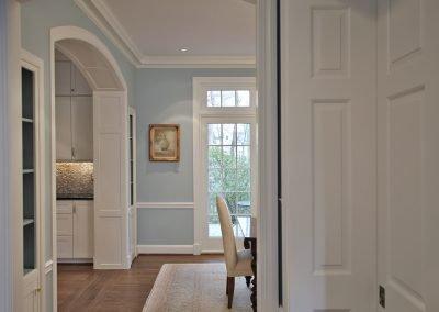 Entranceway into dining room