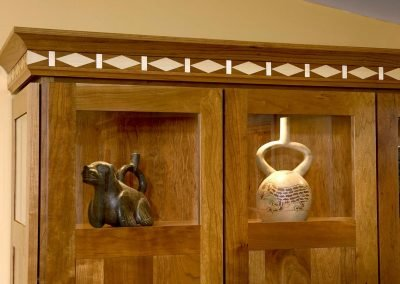 Detail of wood cabinets