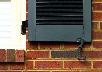 Detail shot of shutters