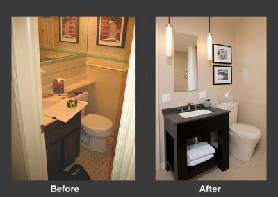 Before an after bathroom remodel