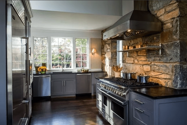 A rustic remodeled kitchen