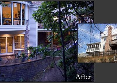 Before and after home exterior