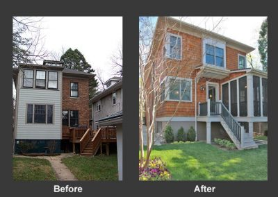 A before and after of an addition
