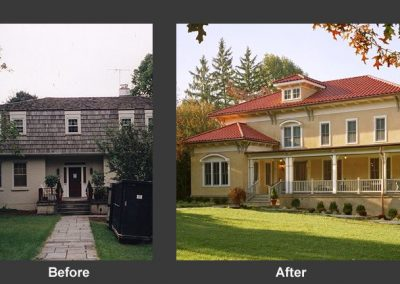 Before and after of remodeled home