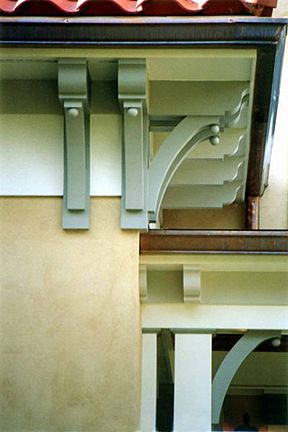 Detail photo of eaves