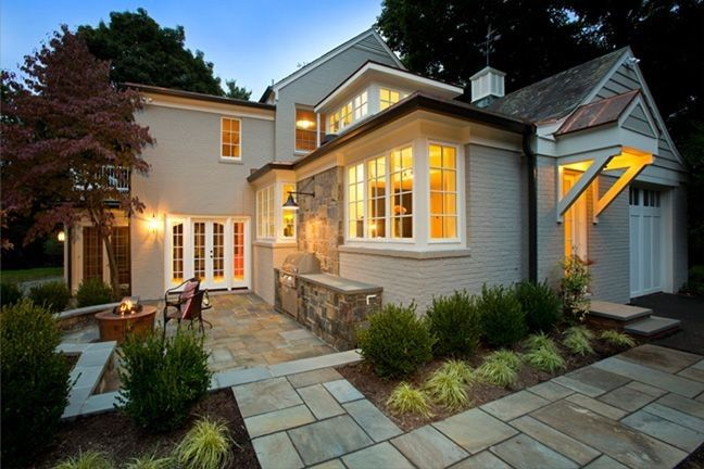 An exterior patio remodel