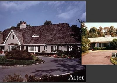 Before and after a home remodeling